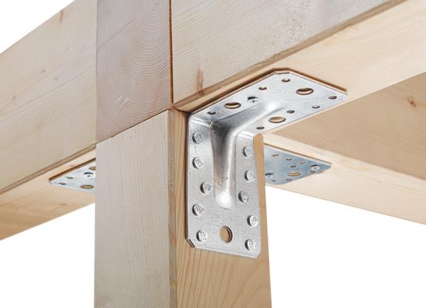 25 St/ück sendzimirverzinkt GAH-Alberts 330552 Schwerlast-Winkelverbinder mit Sicke 90 x 90 x 65 mm