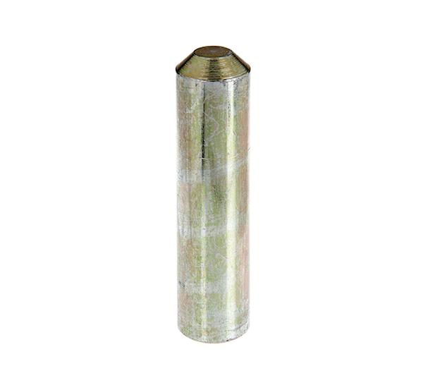 Einschlag-Werkzeug für Bodenhülsen für Stahlrohrpfosten, Material: Stahl roh, Oberfläche: galvanisch gelb verzinkt, Gesamtlänge: 130mm, Durchmesser: 30,9mm