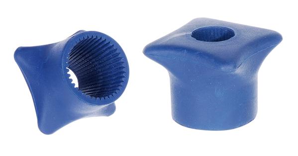 Flaschenöffner, Material: Weichgummi, Farbe: blau, Inhalt pro PE: 1St., SB-verpackt