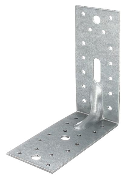 GAH-Alberts 300548 DURAVIS/® Schwerlast-Winkelverbinder mit Sicke perlbeige duplexbeschichtet RAL 1035 Gr/ö/ße 70 x 70 x 55 mm