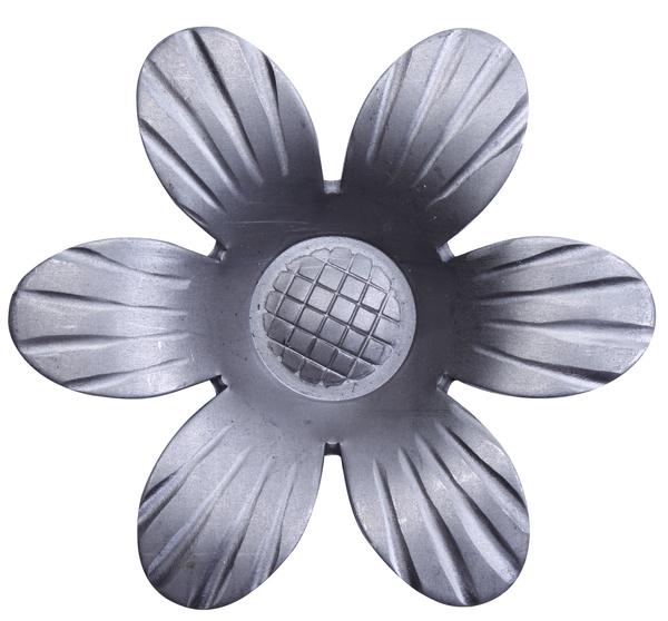 Zierrosette, Material: Stahl roh, Breite Rosette: 90mm, Materialstärke: 2,50mm