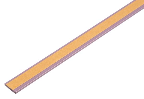 Flachstange, selbstklebend, beschichtet in Trendfarben, Material: Aluminium, Oberfläche: blueberry cream kunststoffbeschichtet, Breite: 14,5mm, Materialstärke: 1,5mm, Länge: 2000mm