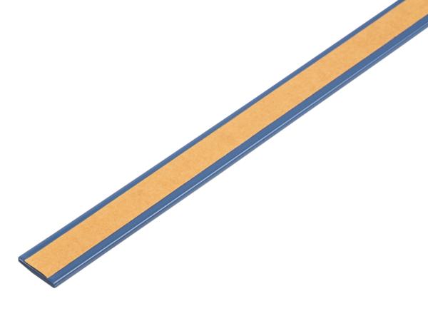 Flachstange, selbstklebend, beschichtet in Trendfarben, Material: Aluminium, Oberfläche: wide sky kunststoffbeschichtet, Breite: 14,5mm, Materialstärke: 1,5mm, Länge: 1150mm