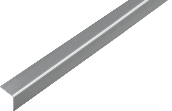 Winkelprofil, selbstklebend, Material: PVC-U, Farbe: Edelstahloptik, Breite: 20mm, Höhe: 20mm, Materialstärke: 1,5mm, Ausführung: selbstklebend, Länge: 1000mm