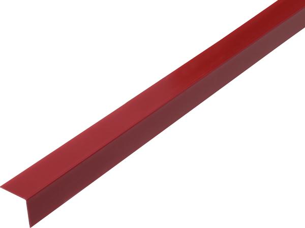 Winkelprofil, selbstklebend, Material: PVC-U, Farbe: dunkelrot, Breite: 20mm, Höhe: 20mm, Materialstärke: 1,5mm, Ausführung: selbstklebend, Länge: 2600mm