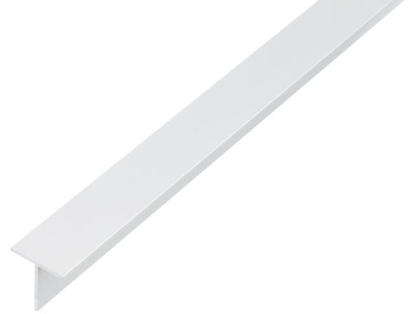BA-Profil, T-Form, Material: Aluminium, Oberfläche: weiß kunststoffbeschichtet RAL 9016, Breite: 25mm, Höhe: 25mm, Materialstärke: 2mm, Länge: 2000mm
