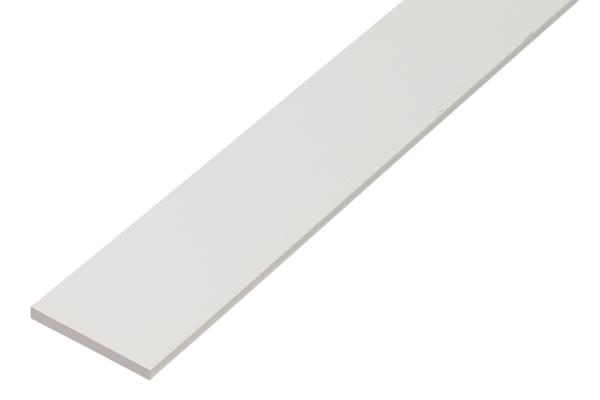 Flachstange,PVC,weiß,100x2/2,6m