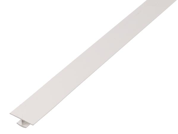 H-Profil,PVC,weiß,25x6x10x1/2,6m