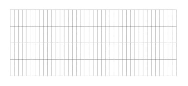 Doppelstab-Gittermatte, Typ 6/5/6, ohne Überstand, Material: Stahl roh, Oberfläche: feuerverzinkt, Breite: 2000mm, Höhe: 800mm, Maschenweite: 50 x 200mm, 15 Jahre Garantie gegen Durchrosten