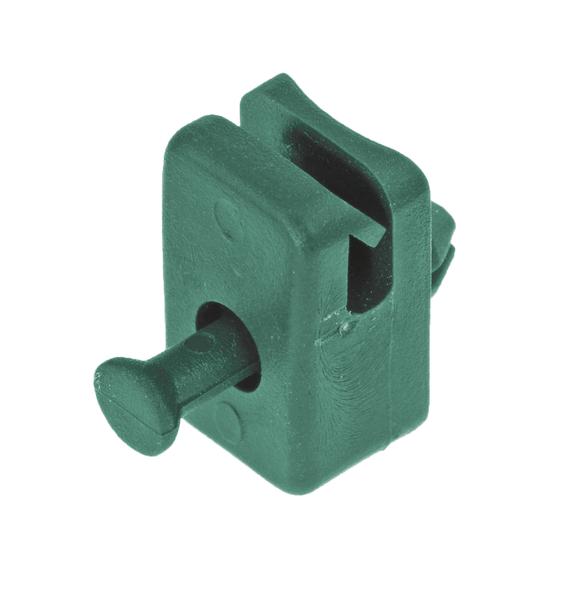 Spanndrahthalter m.Nietstift,KST,grün
