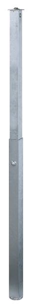 Absperrpfosten Quicky, versenkbar, Material: Stahl roh, Oberfläche: feuerverzinkt passiviert, zum Einbetonieren, Pfosten: 70 x 70mm, Höhe über Boden: 1000mm, Vierkantrohr: 80 x 80mm, Länge Bodenhülse: 1100mm