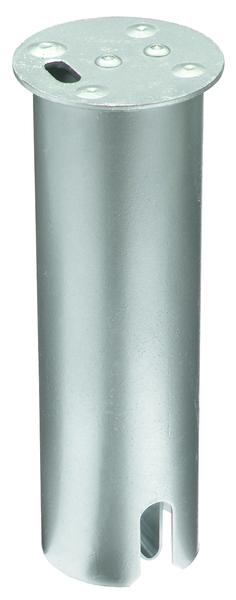 Abdeckkappe für runde Bodenhülsen für Absperrpfosten, Material: Stahl roh, Oberfläche: feuerverzinkt passiviert, Länge: 200mm