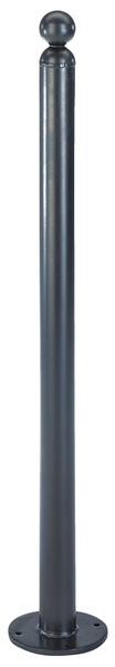 Absperrpoller Bella, Material: Stahl roh, Oberfläche: feuerverzinkt,anthrazit-metallickunststoffbeschichtet, zum Aufschrauben, Pfosten-⌀: 60mm, Höhe über Boden: 1000mm, Anzahl Ösen: 0
