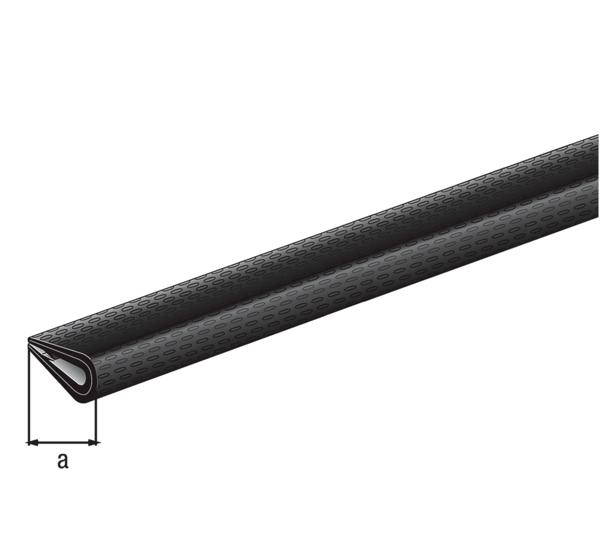 Kantenschutzprofil, Material: Weich-PVC, Farbe: schwarz, Inhalt pro PE: 1St., Breite: 10mm, Höhe: 7mm, Länge: 1500mm, SB-verpackt