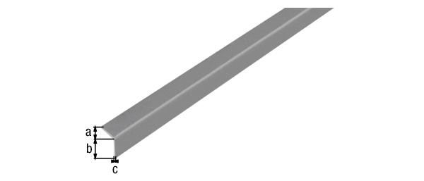 Winkelprofil, selbstklebend, Material: PVC-U, Farbe: grau metallic, Breite: 20mm, Höhe: 20mm, Materialstärke: 1,5mm, Ausführung: selbstklebend, Länge: 1000mm