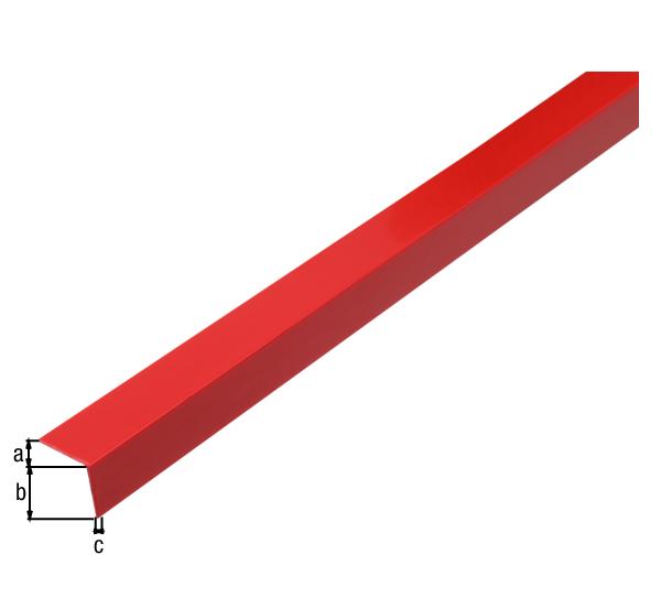 Winkelprofil, selbstklebend, Material: PVC-U, Farbe: karminrot, Breite: 20mm, Höhe: 20mm, Materialstärke: 1,5mm, Ausführung: selbstklebend, Länge: 2600mm