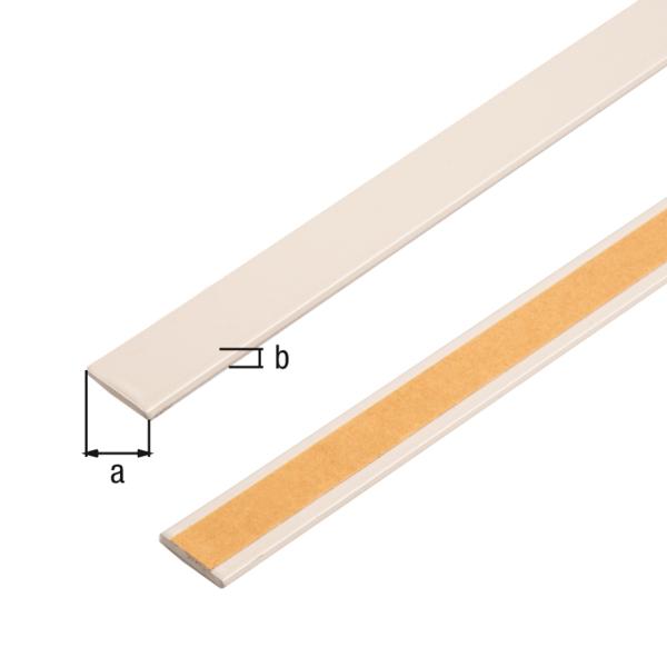 Flachstange, selbstklebend, beschichtet in Trendfarben, Material: Aluminium, Oberfläche: cheesecake kunststoffbeschichtet, Breite: 14,5mm, Materialstärke: 1,5mm, Länge: 1150mm