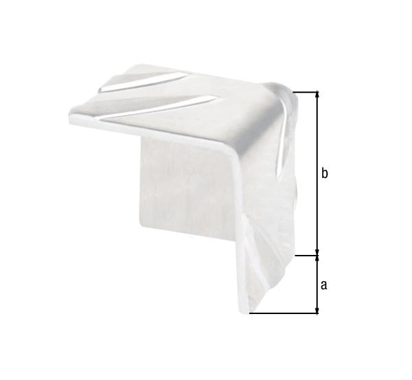 Eckschutz, Riffel-Prägung, Material: Aluminium, Oberfläche: natur, Tiefe: 23,5mm, Höhe: 23,5mm, Ausführung: Struktur