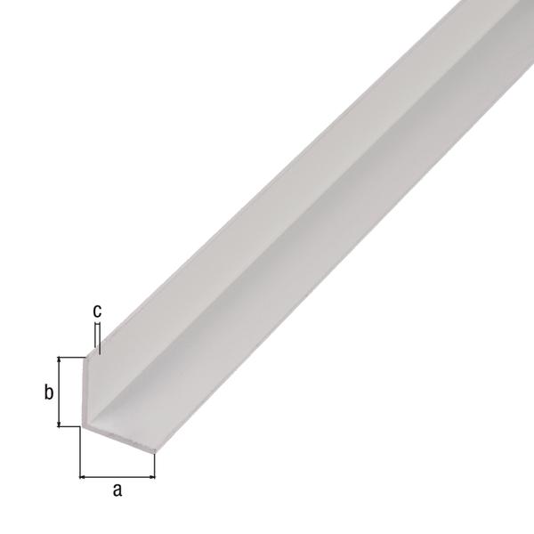 BA-Profil, Winkel, Material: Aluminium, Oberfläche: weiß kunststoffbeschichtet RAL 9016, Breite: 15mm, Höhe: 15mm, Materialstärke: 1mm, Ausführung: gleichschenklig, Länge: 2000mm