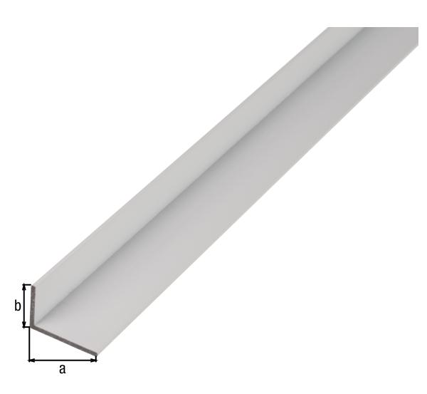 BA-Profil, Winkel, Material: Aluminium, Oberfläche: weiß kunststoffbeschichtet RAL 9016, Breite: 30mm, Höhe: 20mm, Materialstärke: 2mm, Ausführung: ungleichschenklig, Länge: 2000mm