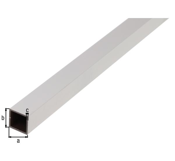 BA-Profil, Vierkant, Material: Aluminium, Oberfläche: weiß kunststoffbeschichtet RAL 9016, Breite: 20mm, Höhe: 20mm, Materialstärke: 1,5mm, Länge: 2600mm