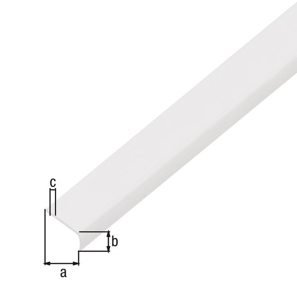 Abschlussprofil, rund, selbstklebend, Material: Kunststoff, Farbe: weiß, Breite: 19mm, Höhe: 7mm, Materialstärke: 1mm, Ausführung: selbstklebend, Länge: 1000mm