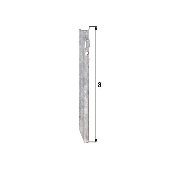Erdanker, Material: Stahl roh, Oberfläche: sendzimirverzinkt, Gesamthöhe: 250mm
