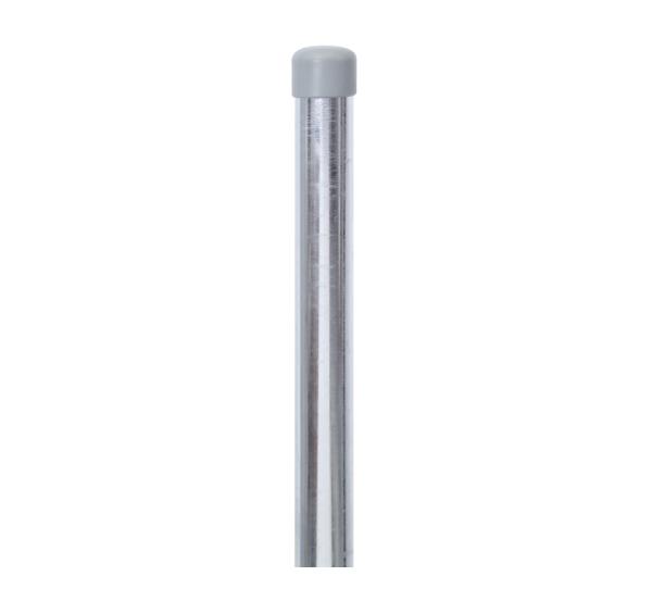 Zaunpfosten,ungebohrt, Material: Stahl roh, Oberfläche: feuerverzinkt, zum Einbetonieren, Länge: 1750mm, Pfosten-⌀: 34mm, 15 Jahre Garantie gegen Durchrosten