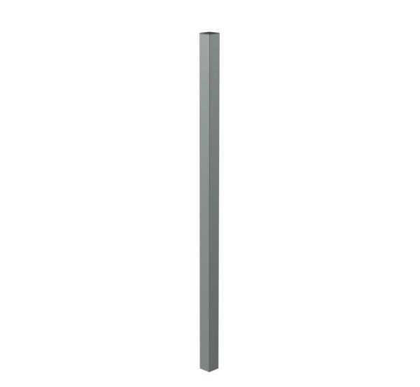 Zaunpfosten für Zaungabionen Cluster, Material: Stahl roh, Oberfläche: feuerverzinkt, zum Einbetonieren, Länge: 1500mm, für Gabionenhöhe: 1000mm, Pfostenstärke: 60 x 60mm, Materialstärke: 3,00mm