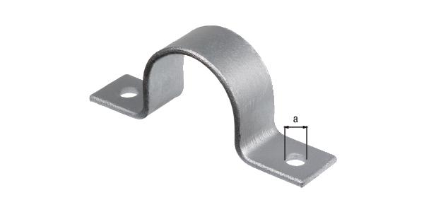 Befestigungsbügel für Fahrradständer City und Ville, Material: Stahl roh, Oberfläche: feuerverzinkt passiviert,zumAufschrauben, Loch-⌀: 10mm, Gesamtlänge: 104mm, Gesamtbreite: 40mm, Gesamthöhe: 42,5mm