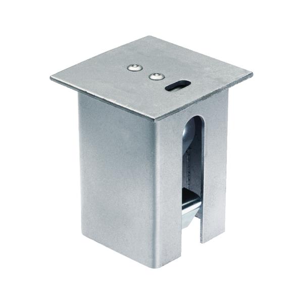Abdeckkappe für eckige Bodenhülsen für Absperrpfosten, Material: Stahl roh, Oberfläche: feuerverzinkt passiviert, Länge: 110mm